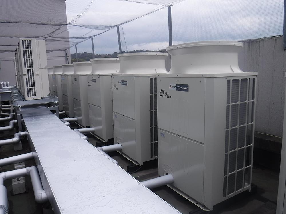 施工写真:加藤病院本館(3階・4階・5階)空調設備更新工事2