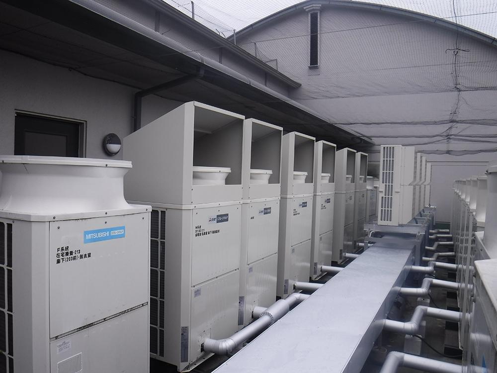 施工写真:加藤病院本館(3階・4階・5階)空調設備更新工事3
