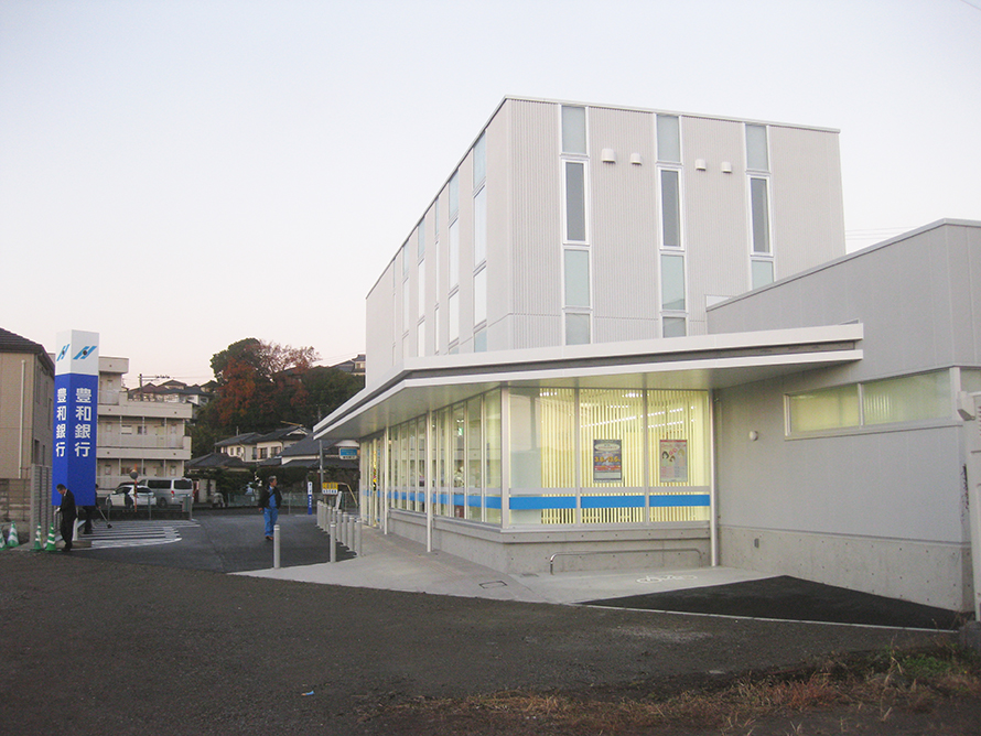 施工写真:豊和銀行宗方支店移転新築工事1