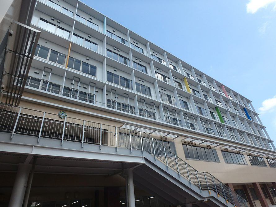 施工写真:碩田中学校2